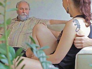 Kinky Gal Enjoys Old Boner Segment