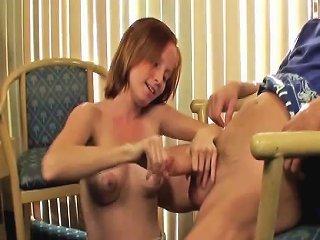 Hj Loving Redhead Pampering Cock